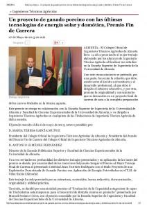 Noticias almeria - Un proyecto de ganado porcino con las últimas tecnologías de energía solar y domótica, Premio Fin de Carrera_Página_1